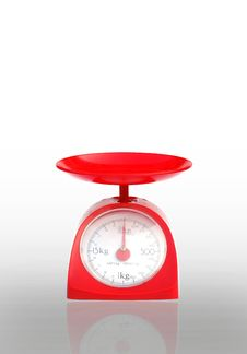 Free Weight Scale Isolated Stock Photo - 18543100