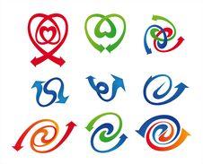 Free Arrows Symbol Set Stock Image - 18543371