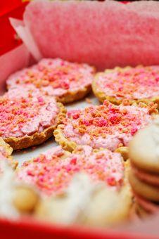 Mini Raspberry Tarts Royalty Free Stock Photo