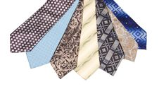 Free Set Of Luxury Ties On White Stock Images - 18543834