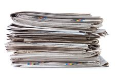 Free Various Newspapers Over White Royalty Free Stock Photography - 18543907
