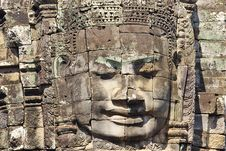 Free Stone Head On Towers Of Bayon Stock Photos - 18544093