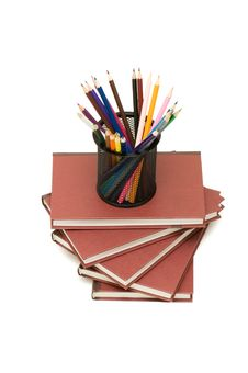 Back To School Concept With Books And Pencils Royalty Free Stock Photo