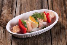Free Raw Chicken Shish Kebab Stock Photos - 18544143
