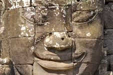 Free Stone Head On Towers Of Bayon Stock Image - 18544171