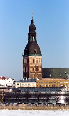Dome Cathedral In Riga Stock Images