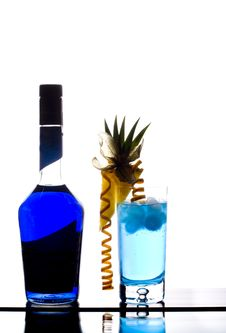 Free Blue Lagoon Cocktail Royalty Free Stock Images - 18544339
