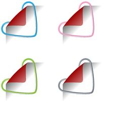 Heart Clips 2 Royalty Free Stock Image