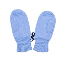 Small Blue Mittens For Baby Stock Photo