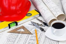 Free Construction Drafts Royalty Free Stock Image - 18545996