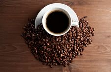 Free Warm Cup Of Ciffee Royalty Free Stock Photos - 18546358
