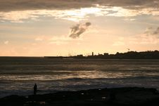 Free Sunset In Estoril, Portugal Royalty Free Stock Image - 18546416