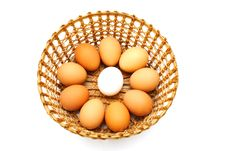 Free Eggs In The Basket Stock Photos - 18546433