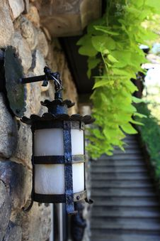 Free Lamp On Stone Wall Stock Photos - 18546473