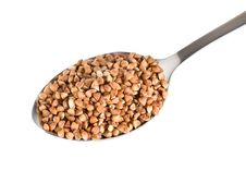 Buckwheat In A Spoon Royalty Free Stock Photo