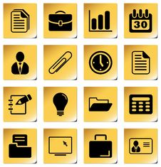 Office And Business Icons. Royalty Free Stock Image