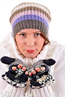 Free Winter Woman Stock Photography - 18547652