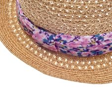 Free Summer Hat With Floral Pattern Close Up Royalty Free Stock Photo - 18547715