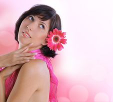 Healthy Woman On Blurred Spring Background Royalty Free Stock Image