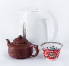 Free Chinese Teapot, Cups And Kettle Stock Photography - 18548932