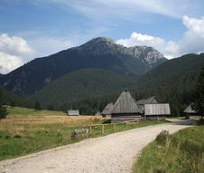 The Home In Tatry Mountains Stock Photography