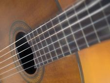 Free Brown Wood Classic Guitar Royalty Free Stock Images - 18549339