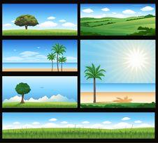 Free Various Nature Landscape Illustration Stock Photography - 18549842