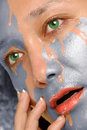 Free Water Washing Paint From Woman Face Royalty Free Stock Photo - 18551185