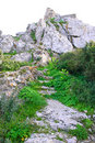 Free Kantara Castle Path Royalty Free Stock Photos - 18551838