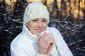 Free Woman In The Winter Forest Royalty Free Stock Image - 18556566