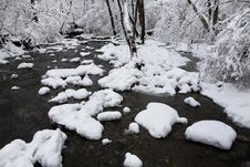 Free Creek In Winter Royalty Free Stock Photos - 18551188