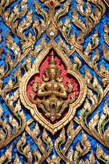 Free Ancient Thai Angel On A Gable Royalty Free Stock Photos - 18551258