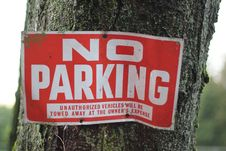 Free No Parking Sign Royalty Free Stock Photos - 18551268