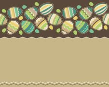 Free Seamless Horizontal Easter Pattern With Eggs Royalty Free Stock Images - 18551709