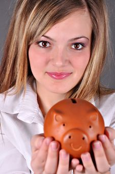 Smiling Female Stock Photo