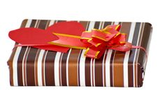 Free Striped Box With Ribbon Royalty Free Stock Photography - 18552277