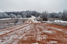 Free A Dirt Road In February Stock Images - 18552314