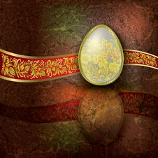Abstract Illustration With Easter Egg Royalty Free Stock Photos