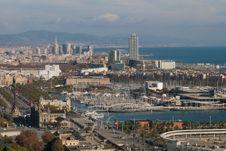 View Over Barcelona Marina Stock Image
