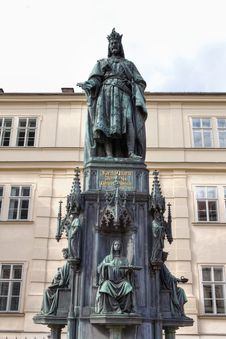Statue Of Charles IV, HDR Royalty Free Stock Images