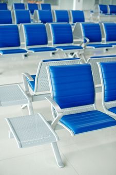 Free Airport Bench Stock Image - 18552681