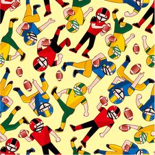 Free Seamless Football Pattern Royalty Free Stock Photo - 18552705