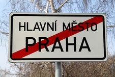 Free Czech Capital City Limits Stock Photo - 18552820