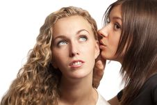 Free Girlfriends Sharing Their Secrets Stock Image - 18552851