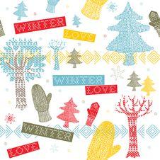 Free Winter Knitting Background Stock Photography - 18553422