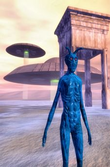 Alien Planet Royalty Free Stock Photos