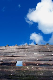 Old Wooden Ship Fragment Royalty Free Stock Images