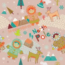 Free North Pole Seamless Pattern Stock Images - 18553544