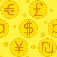 Free Currency Signs, Seamless Royalty Free Stock Image - 18555866