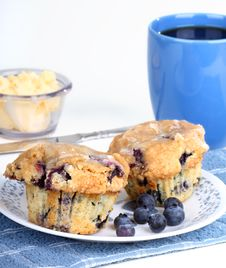 Free Blueberry Muffins Royalty Free Stock Photos - 18556368